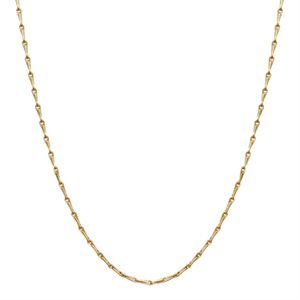 """Picture of Nickel-Safe Gold Elongated Cable Chain: 28"""""""