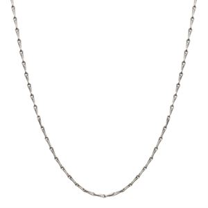 """Picture of Nickel-Safe Silver Elongated Cable Chain: 28"""""""