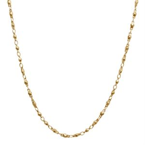 """Picture of Nickel-Safe Gold Multifaceted Link Chain - 28"""""""