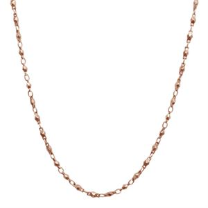"""Picture of Nickel-Safe Rose Gold Multifaceted Link Chain -28"""""""